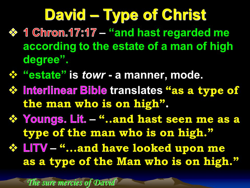 David – Type of Christ