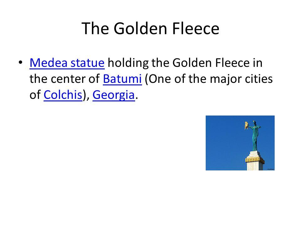 The Golden Fleece Medea statue holding the Golden Fleece in the center of Batumi (One of the major cities of Colchis), Georgia. Medea statueBatumiColc