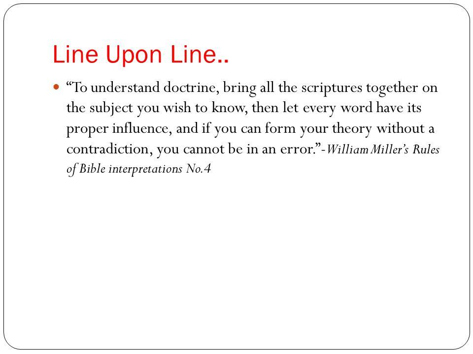Line Upon Line..