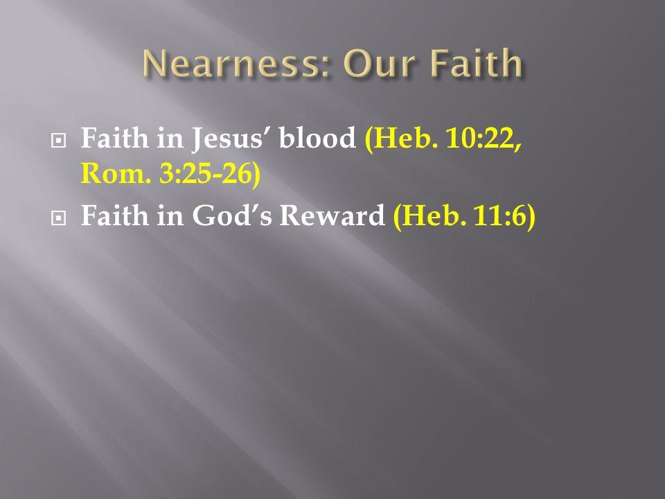  Faith in God's Reward (Heb. 11:6)