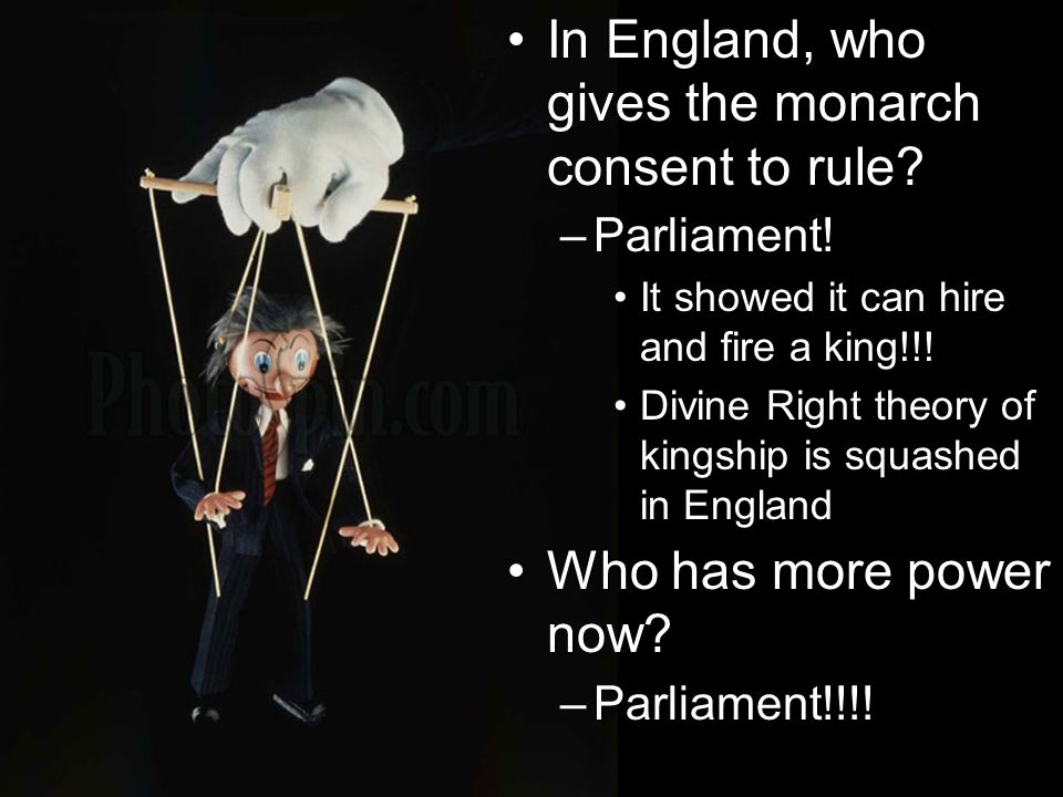 In England, who gives the monarch consent to rule In England, who gives the monarch consent to rule.