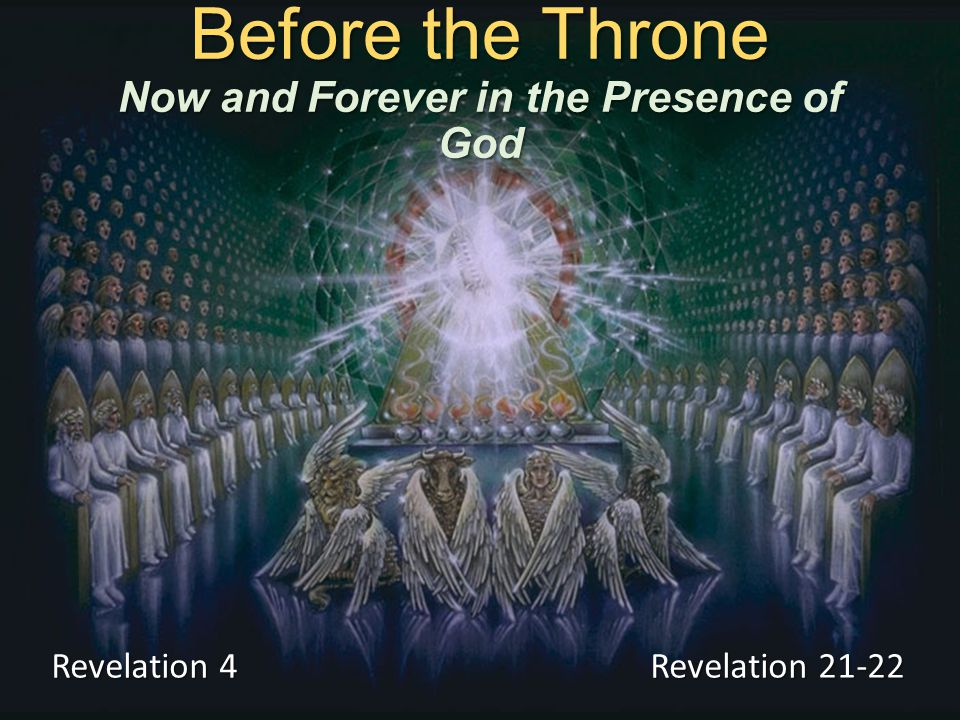 Before the Throne The prayers of the saints (Revelation 8:3-4) The praise of saints who have been protected and preserved (Revelation 14:1-5; 15:2-3; 7:9-10)