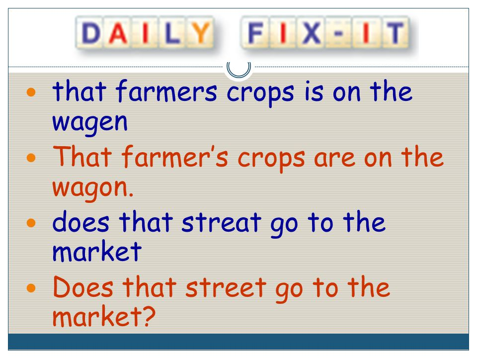 that farmers crops is on the wagen That farmer's crops are on the wagon.