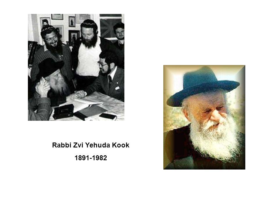 Rabbi Zvi Yehuda Kook 1891-1982
