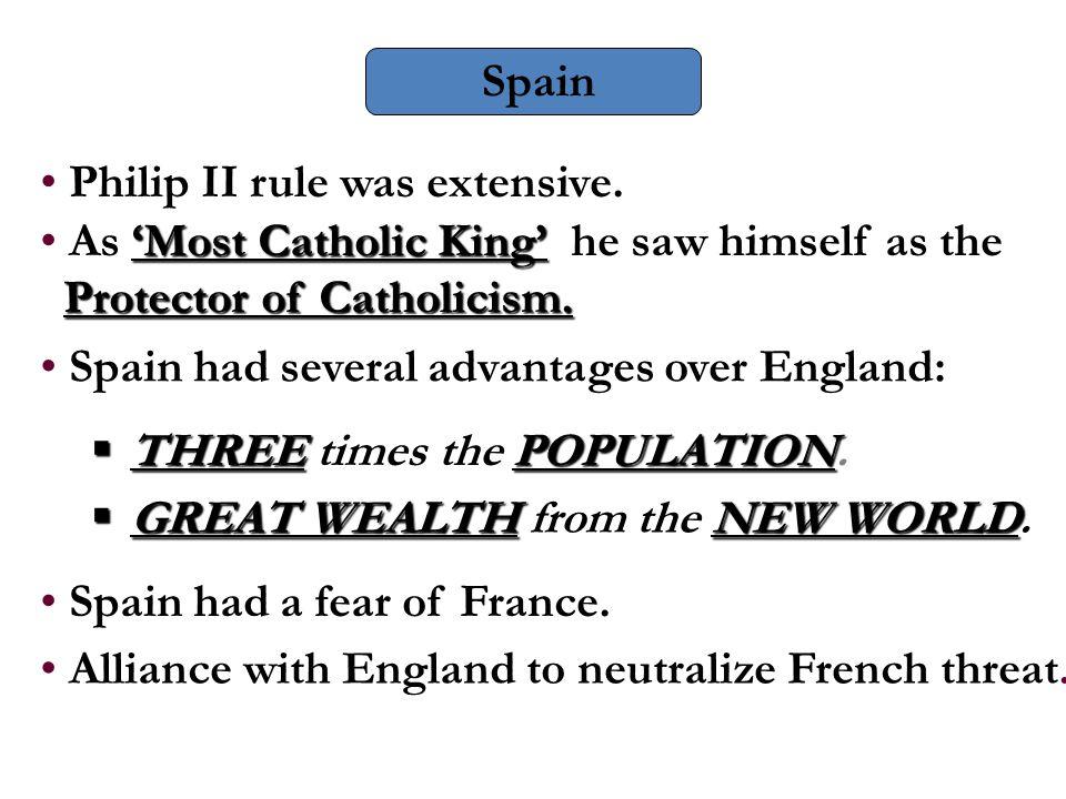 Philip II rule was extensive.