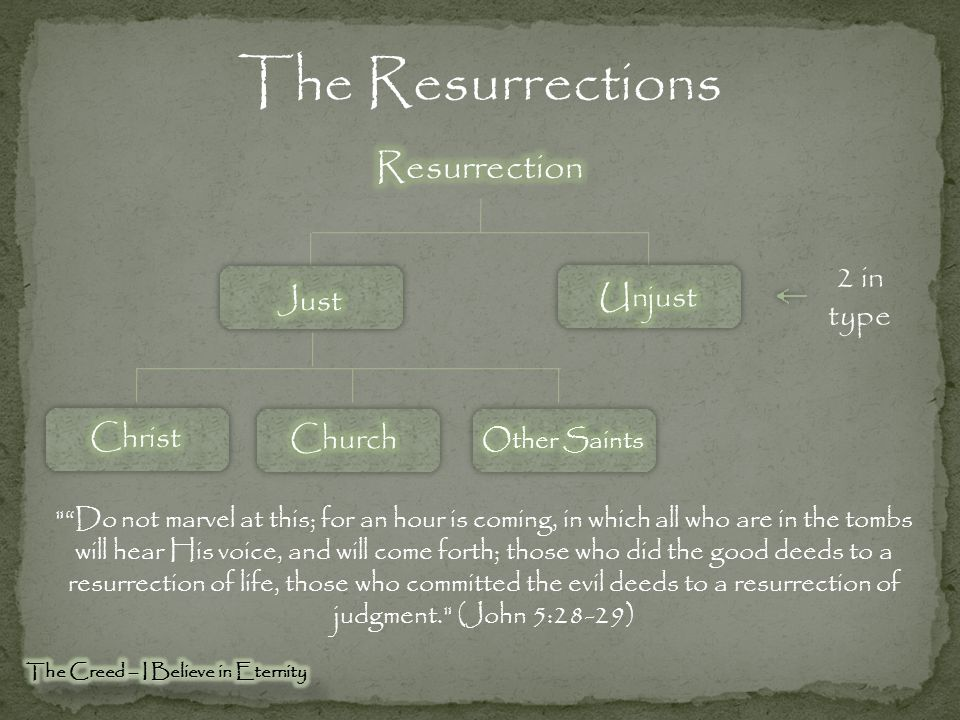 Resurrection of the Just & Unjust Many of those who sleep in the dust of the ground will awake, these to everlasting life, but the others to disgrace and everlasting contempt. (Daniel 12:2) But this I admit to you, that according to the Way which they call a sect I do serve the God of our fathers, believing everything that is in accordance with the Law and that is written in the Prophets; having a hope in God, which these men cherish themselves, that there shall certainly be a resurrection of both the righteous and the wicked. (Acts 24:14-15)