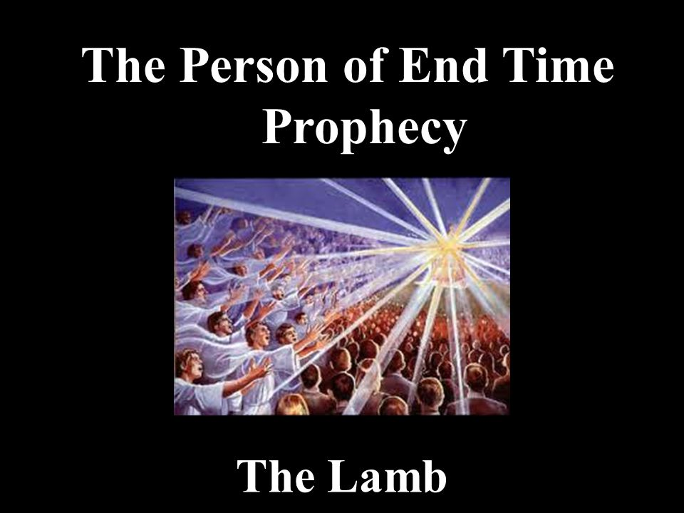 The Person of End Time Prophecy The Lamb