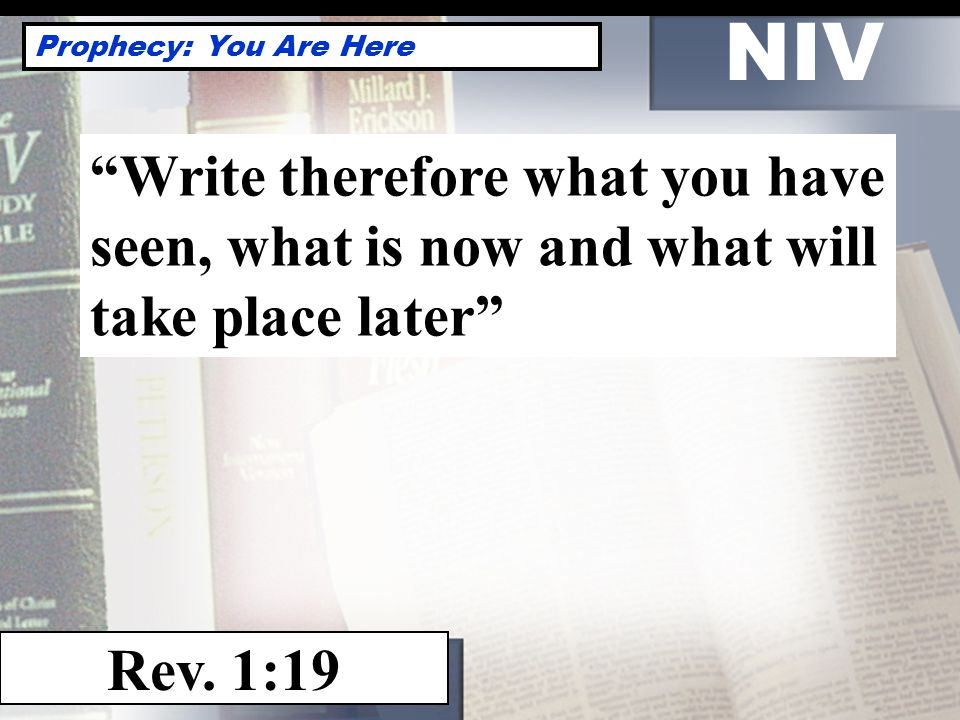 NIV Prophecy: You Are Here Rev.