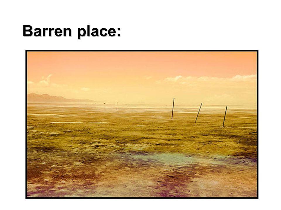 Barren place: