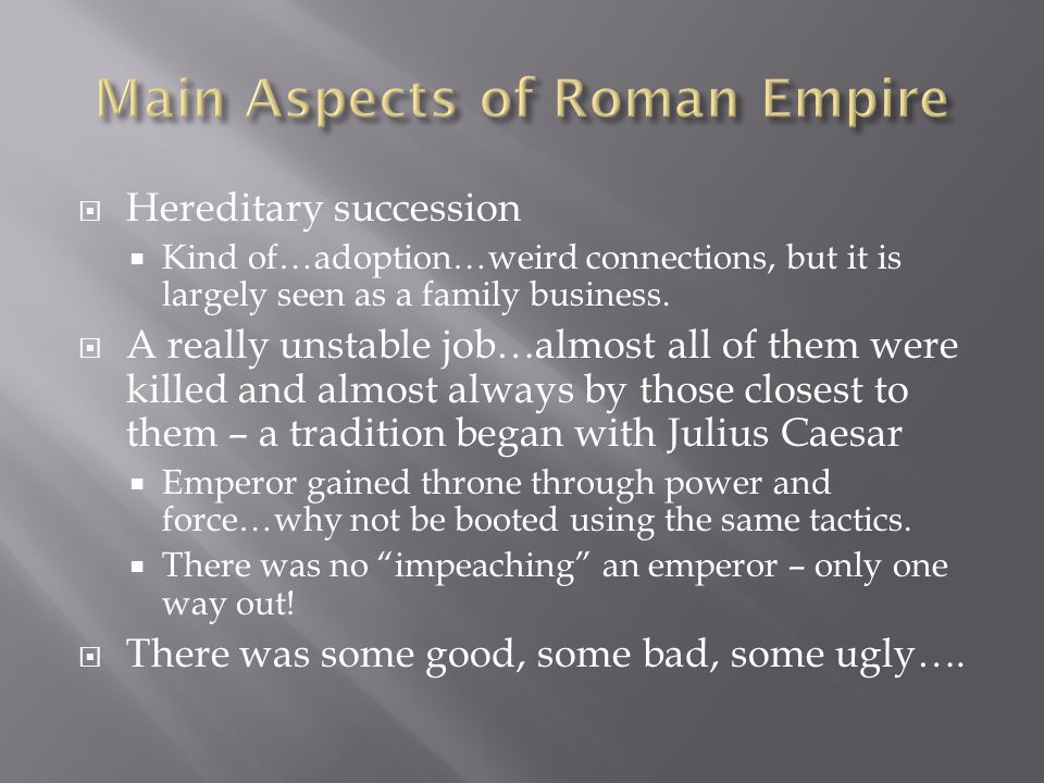  The person responsible for moving Rome from Republic to Empire.