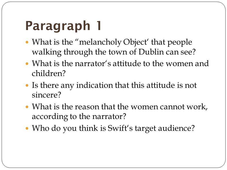 Paragraphs 13-15 How does Swift make the proposal more appalling.