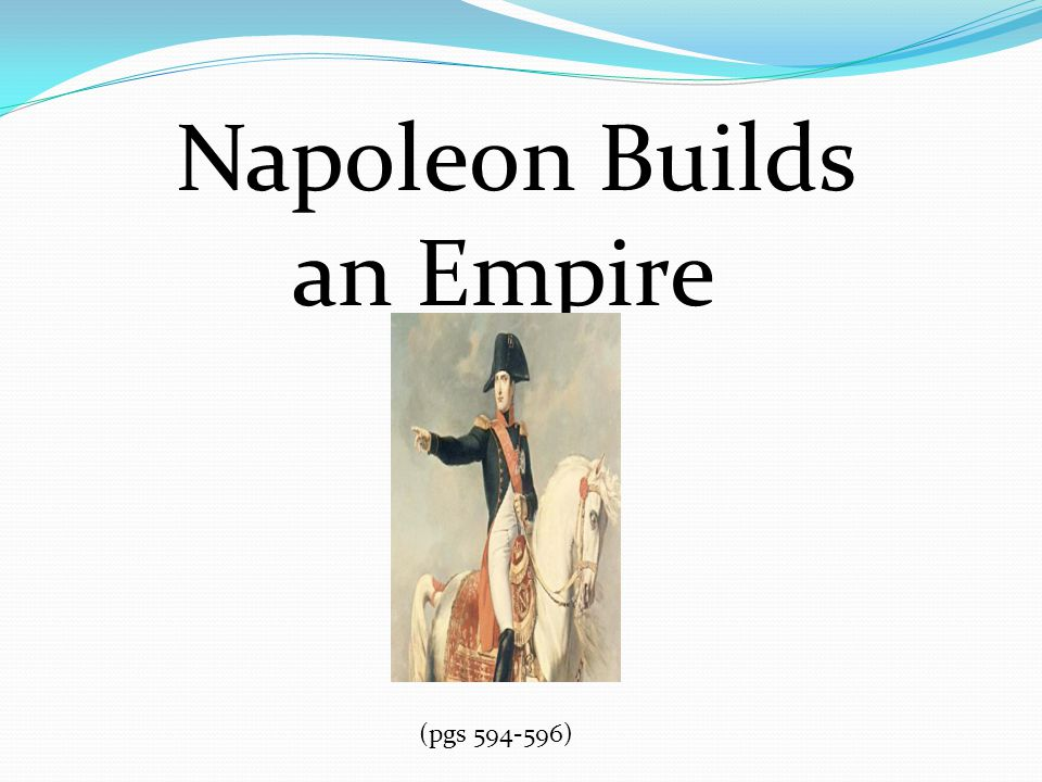 Napoleon Builds an Empire (pgs 594-596)