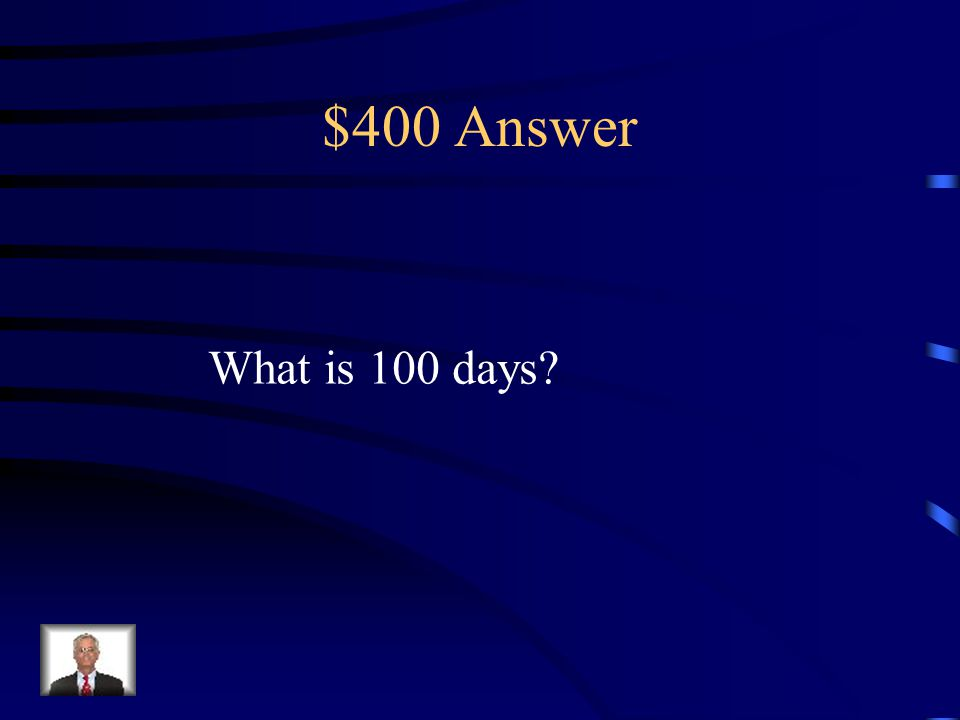 $400 Question from Misc. Napoleon returned from his first exile for this many Days