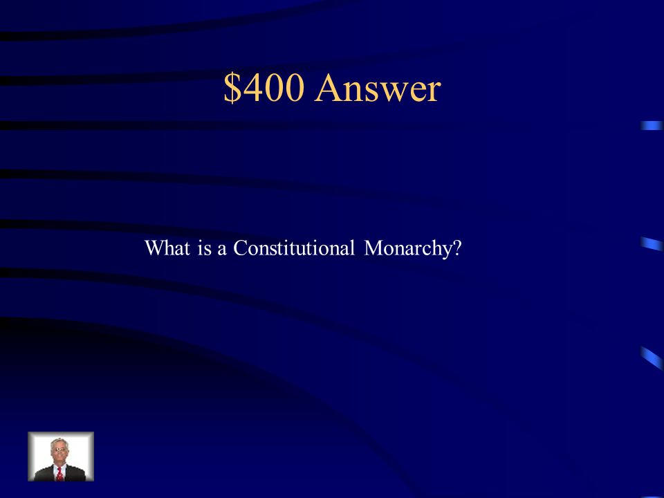 $400 Question from Terms The Constitution of 1791 turned France into this type Of government