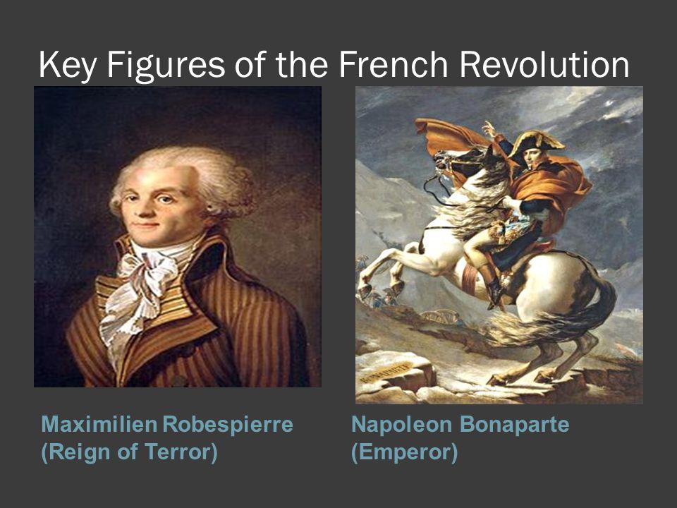 Key Figures of the French Revolution Maximilien Robespierre (Reign of Terror) Napoleon Bonaparte (Emperor)
