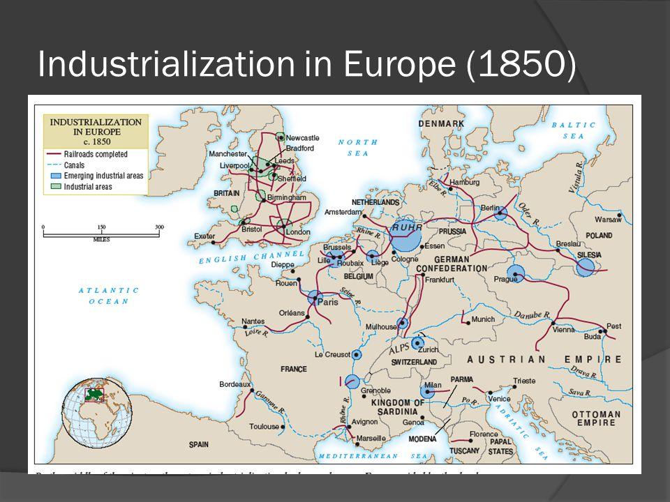 Industrialization in Europe (1850)