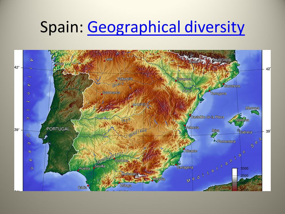 Spain: Geographical diversityGeographical diversity