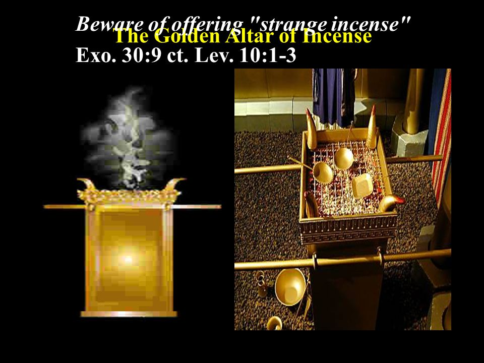 The Golden Altar of Incense 2.The Incense ( Exo. 30:34-38) a.