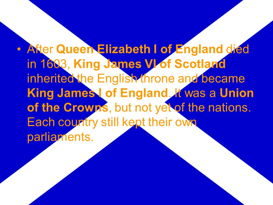 Early in his reign James attemped to combine England and Scotland in a united kingdom of Great Britain .