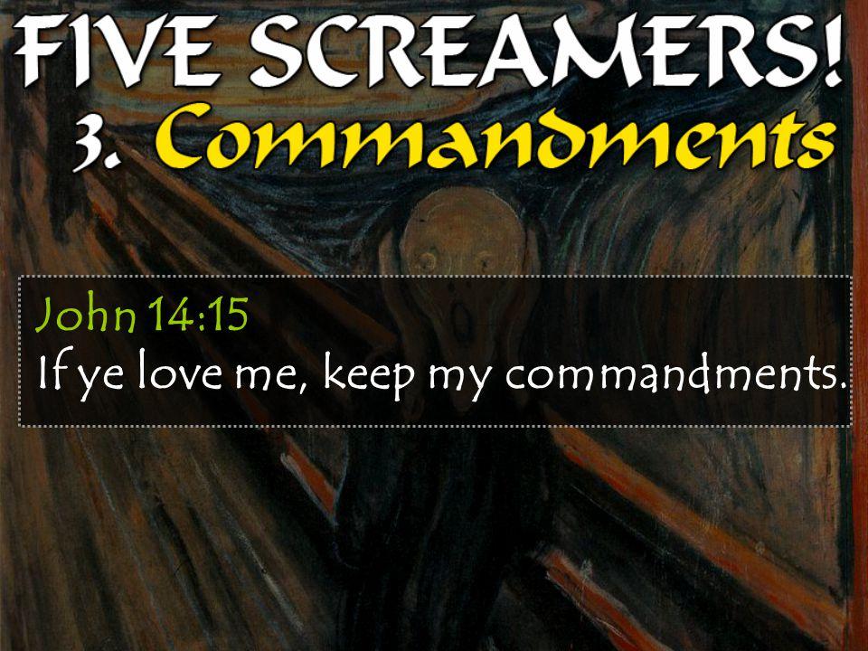 John 14:15 If ye love me, keep my commandments.
