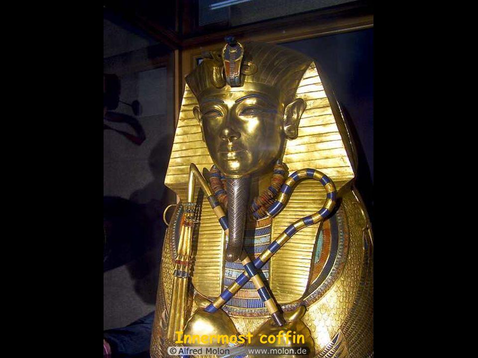 Golden statues of Egyptian gods