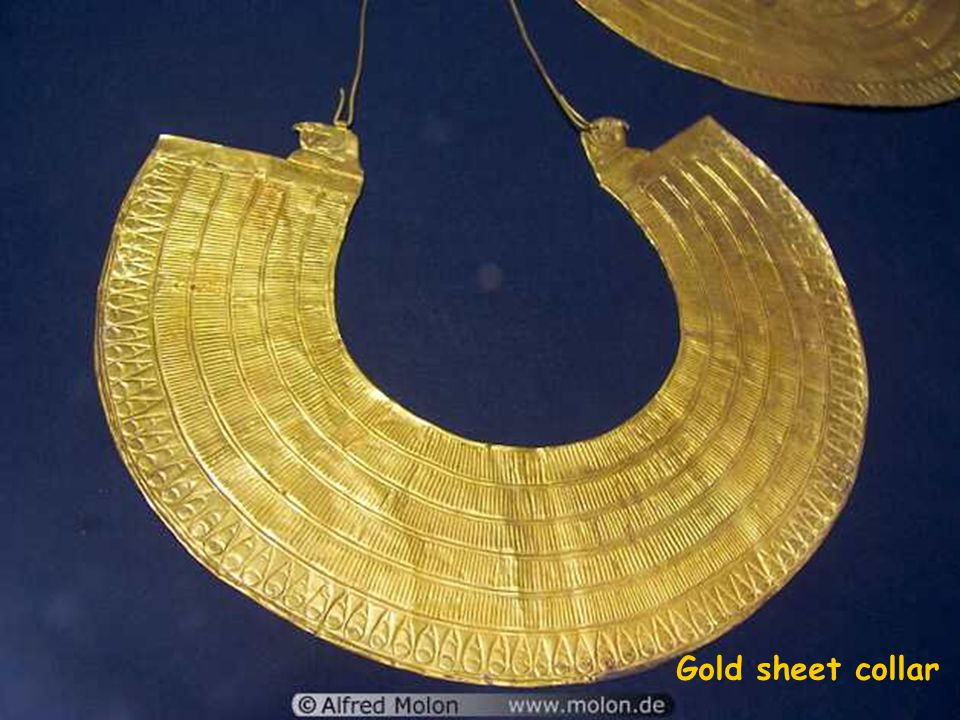 Golden funerary mask of Tutankhamun