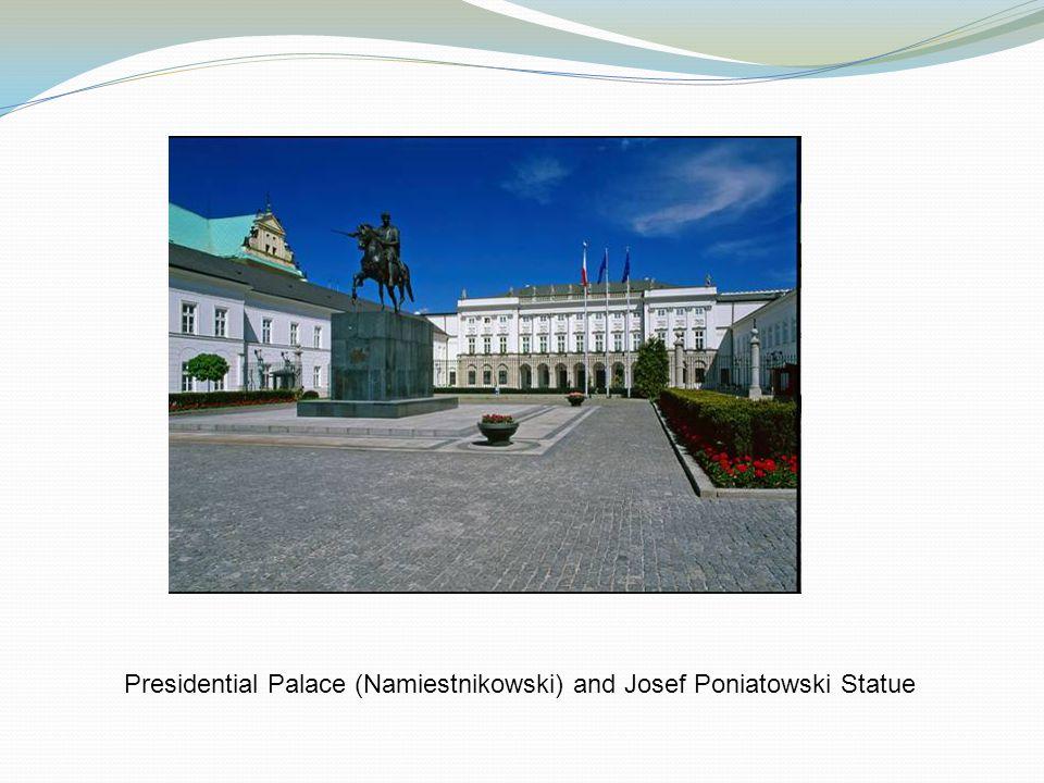 Presidential Palace (Namiestnikowski) and Josef Poniatowski Statue