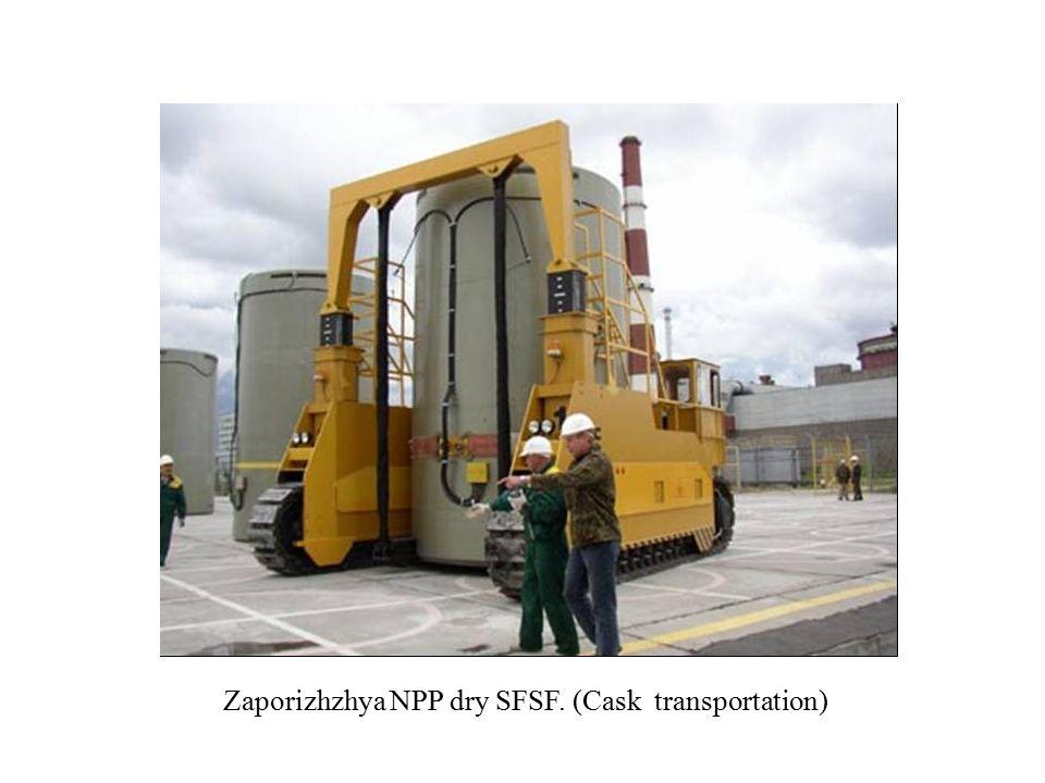 Zaporizhzhya NPP dry SFSF. (Cask transportation)