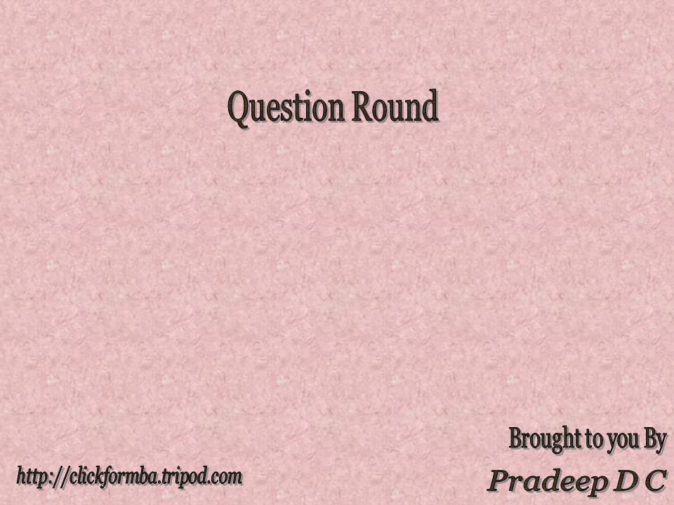 Question 11 The prestigious post held by Horst Koehler before he became President of Germany was Managing Director of IMF
