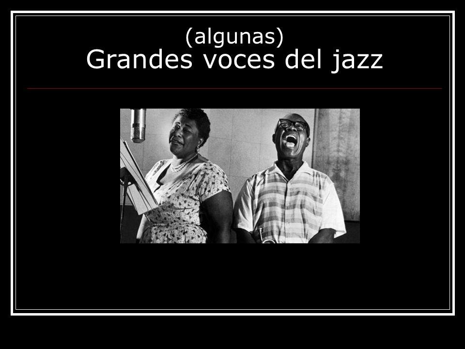 (algunas) Grandes voces del jazz