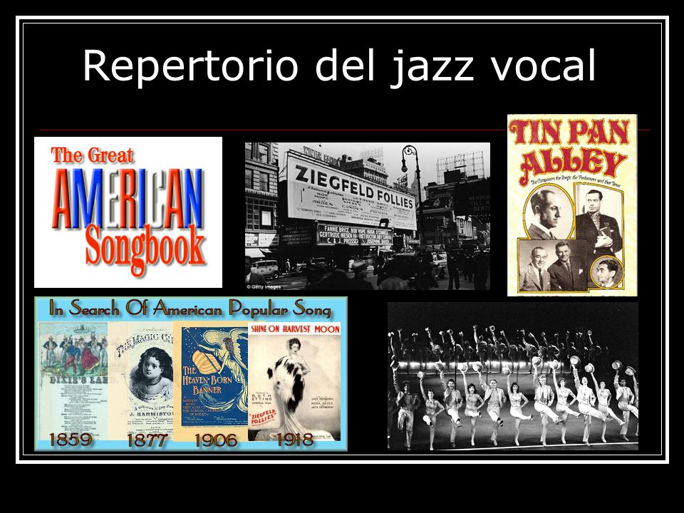 Repertorio del jazz vocal