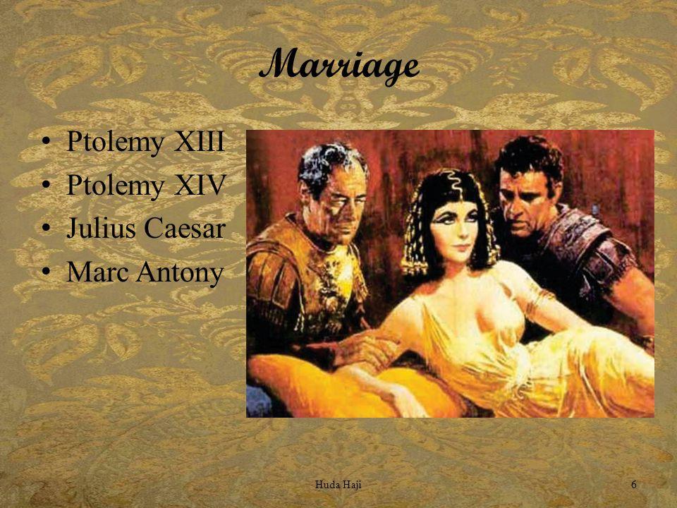 Marriage Ptolemy XIII Ptolemy XIV Julius Caesar Marc Antony Huda Haji6