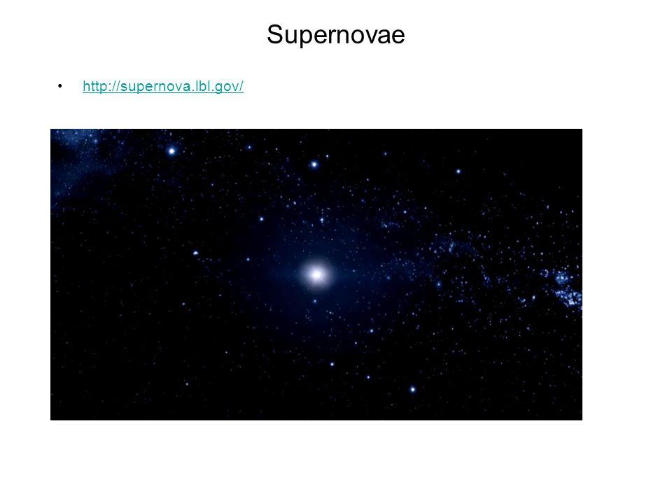 Supernovae http://supernova.lbl.gov/