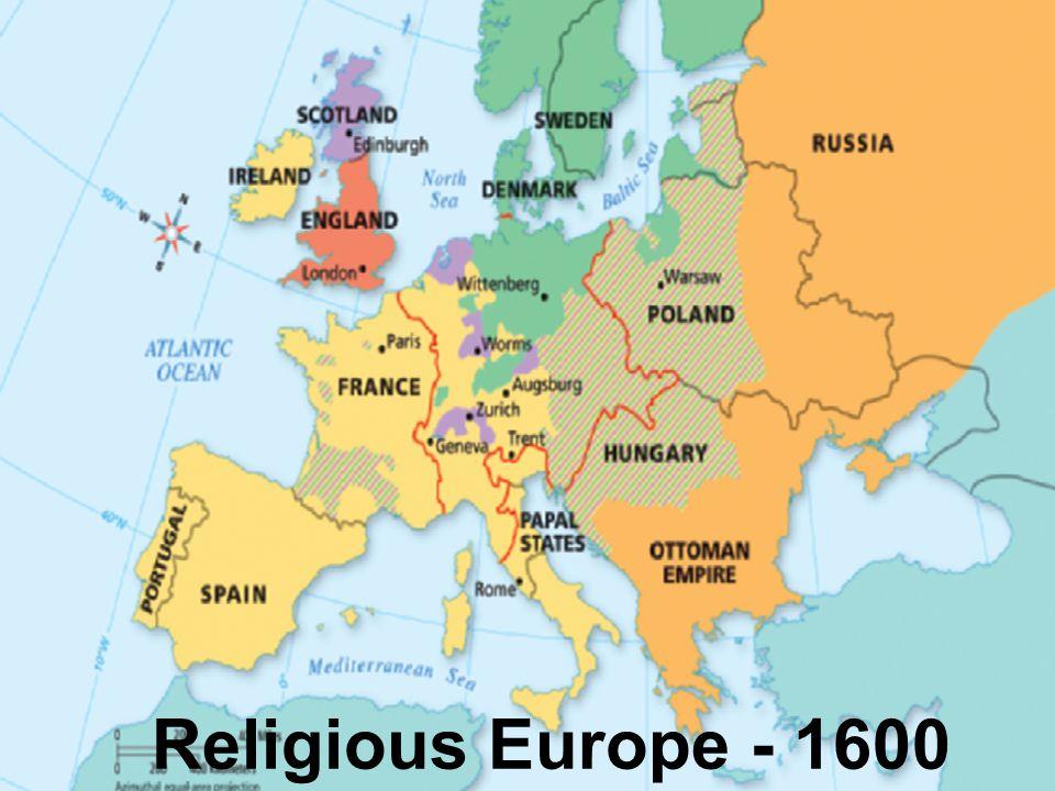 Religious Europe - 1600