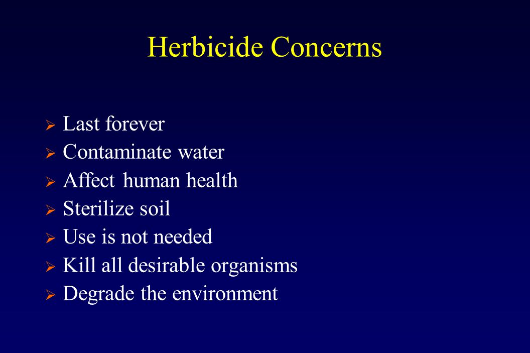 Postemergence Herbicides – Avg. t-1/2
