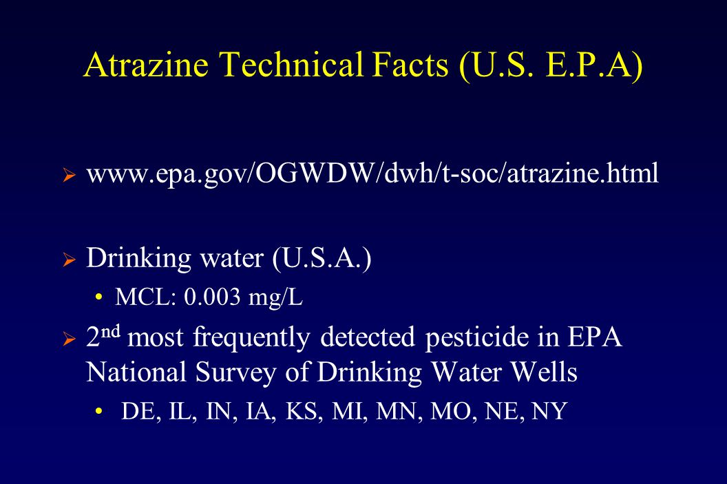 Atrazine Technical Facts (U.S.