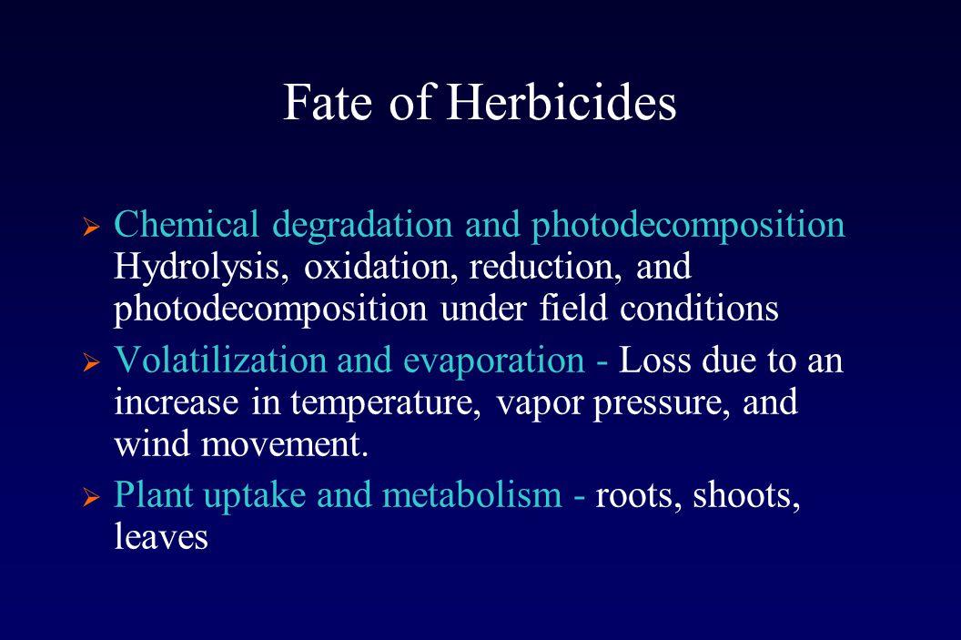 Postemergence Herbicide Volatility