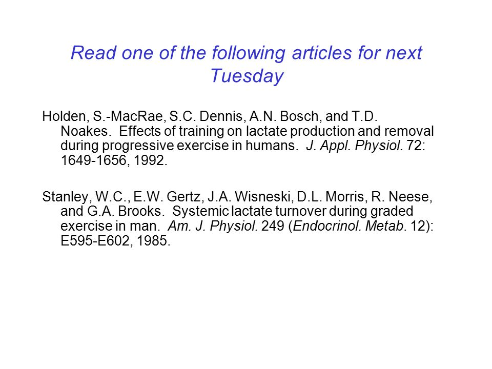 Read one of the following articles for next Tuesday Holden, S.-MacRae, S.C.
