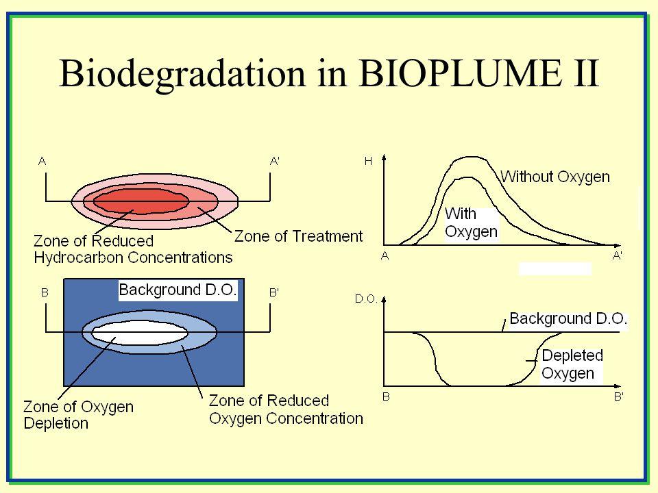 Biodegradation in BIOPLUME II