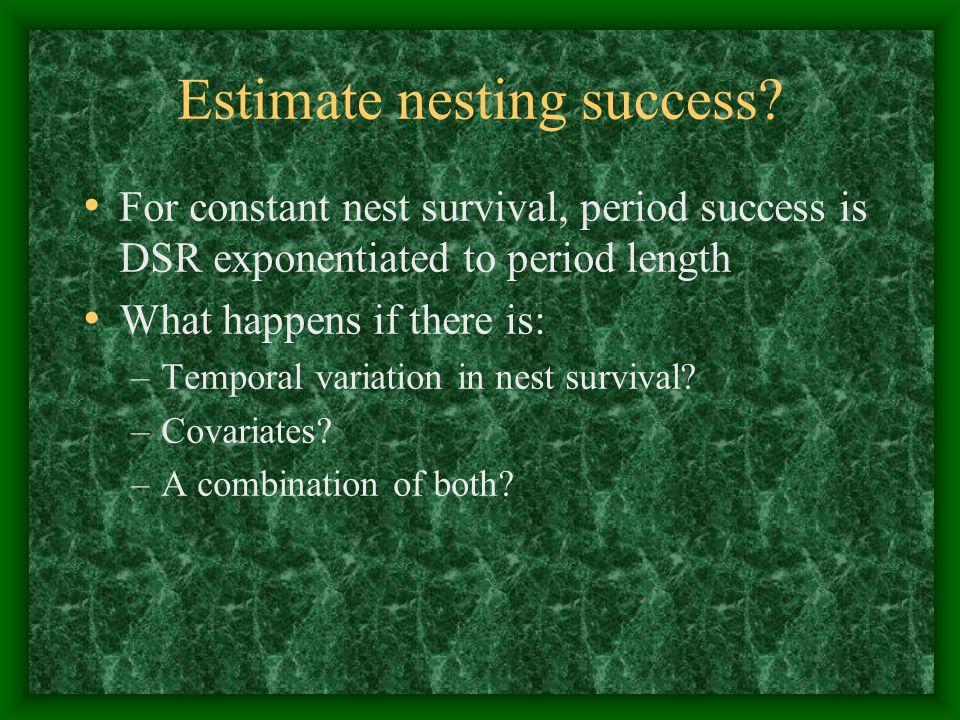 Estimate nesting success.