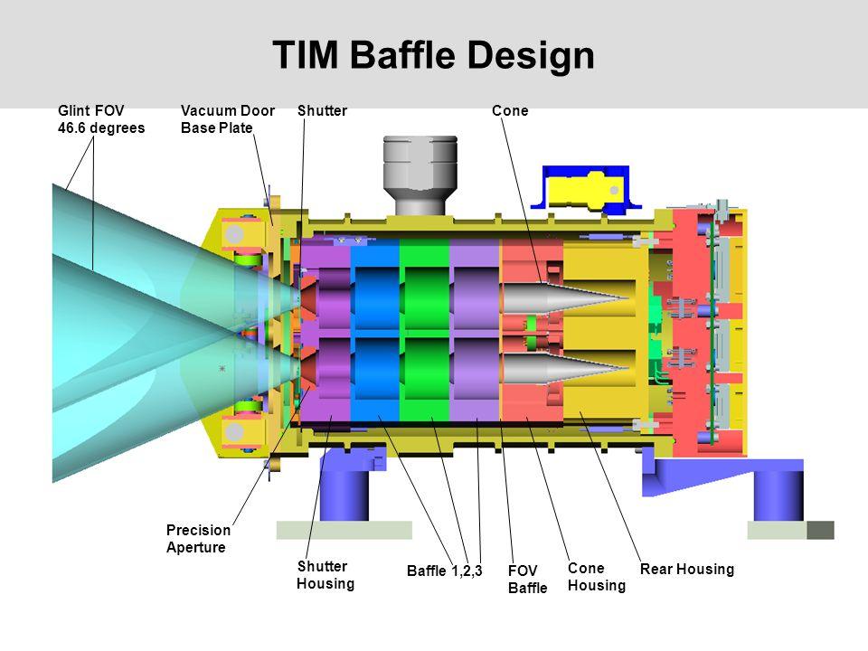 TIM Baffle Design Glint FOV 46.6 degrees Vacuum Door Base Plate Shutter Precision Aperture Shutter Housing Baffle 1,2,3FOV Baffle Cone Housing Rear Ho