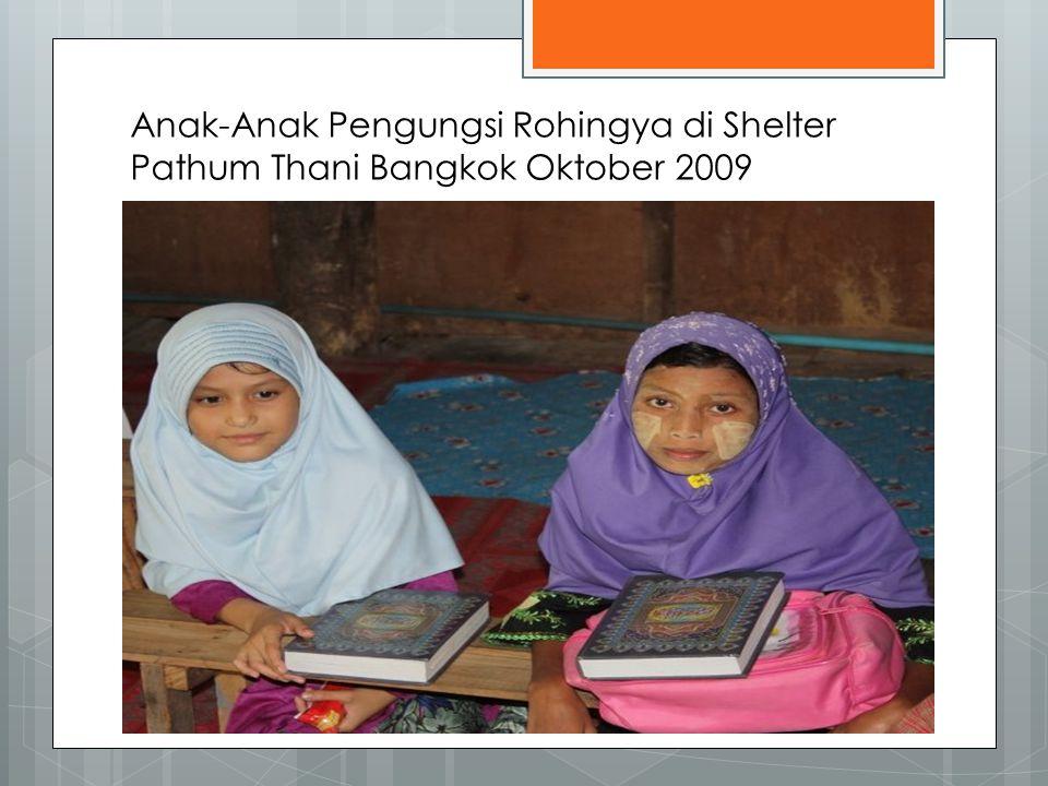 Anak-Anak Pengungsi Rohingya di Shelter Pathum Thani Bangkok Oktober 2009