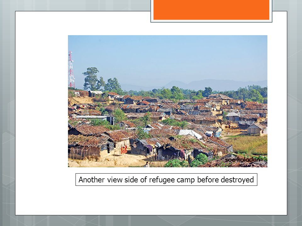 Another view side of refugee camp before destroyed