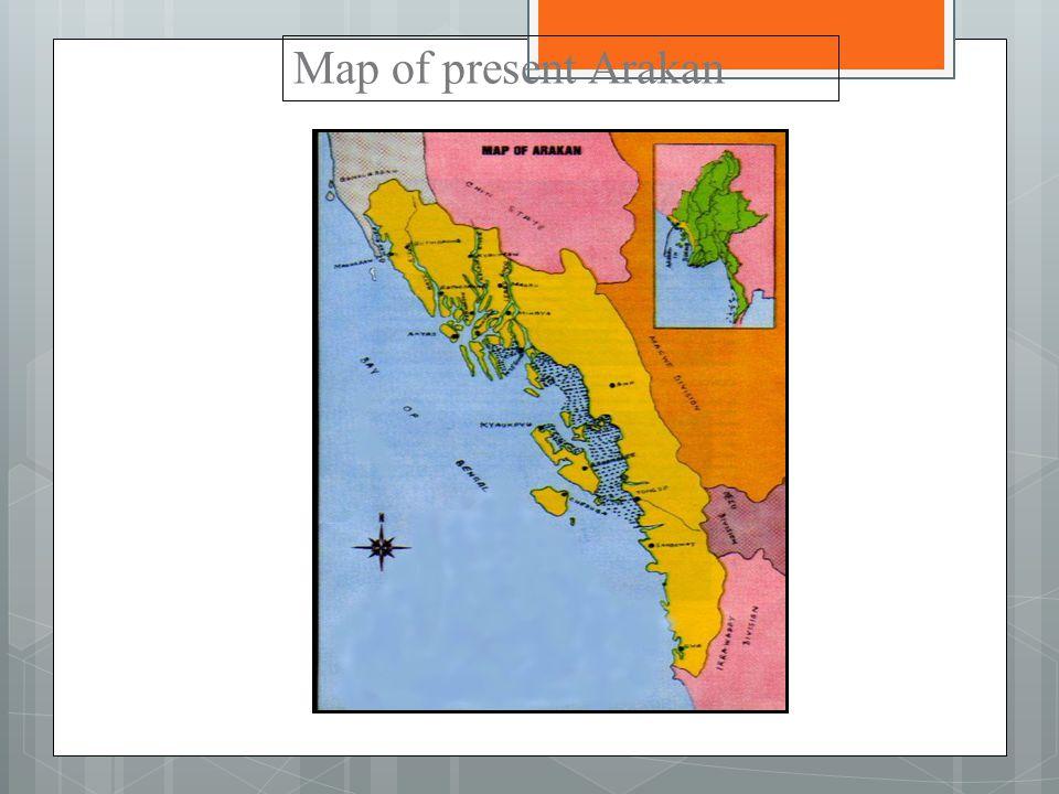 Map of present Arakan