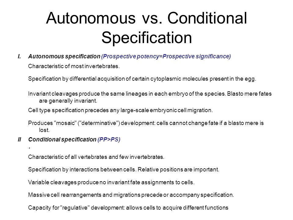 Autonomous vs.