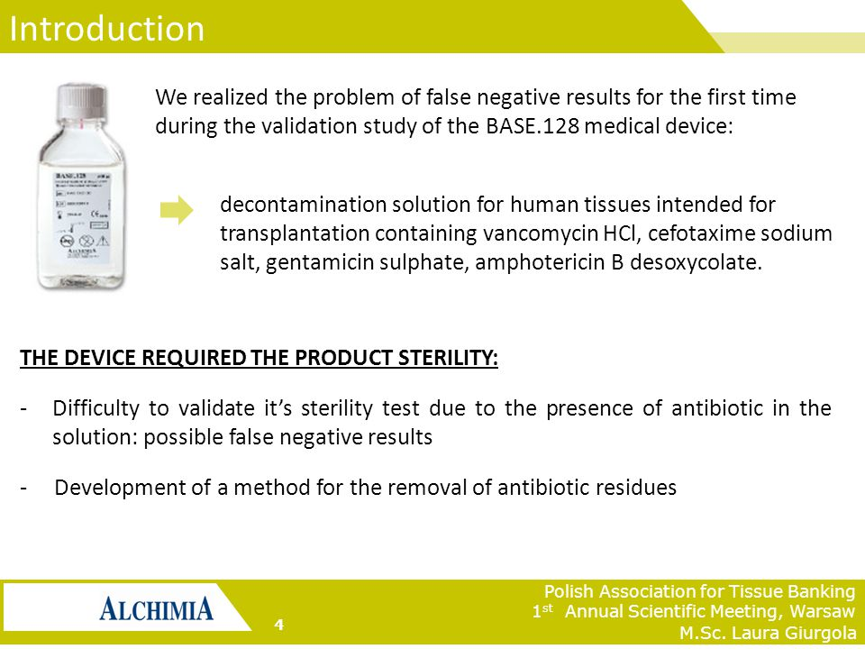 Jana D'Amato Tothova Fate of antibiotics after the tissue decontamination phase M.Sc.