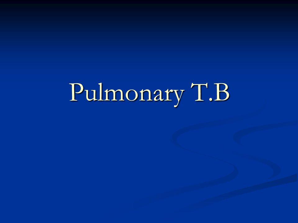 Pulmonary T.B
