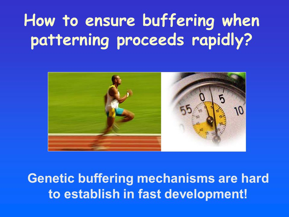 How to ensure buffering when patterning proceeds rapidly.