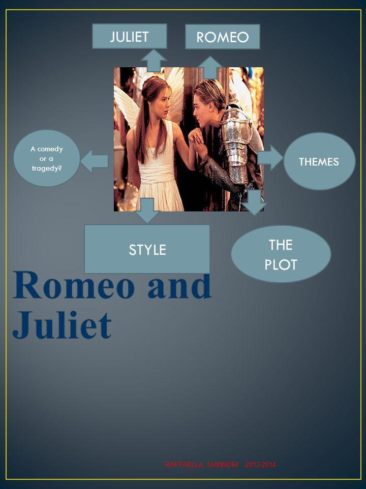 THEMES THE PLOT A comedy or a tragedy ROMEO JULIET STYLE RAFFAELLA MANNORI -2013-2014