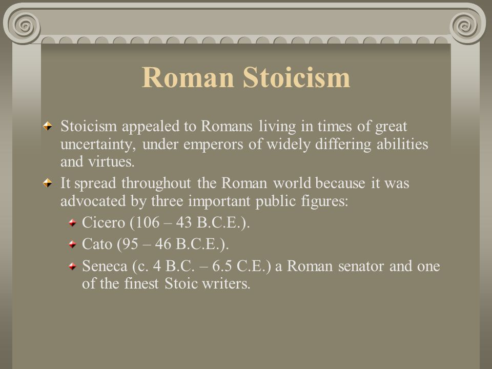 Stoic Admiration The philosophical school known as Stoicism was founded in Greece by Zeno (c. 334-262 B.C.E.) around 300 B.C.E. Because Zeno lectured